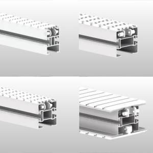 Aluminium and stainless steel beams for chain conveyor system