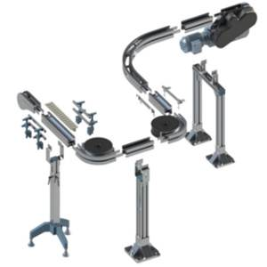 Chain conveyor components from modular automation