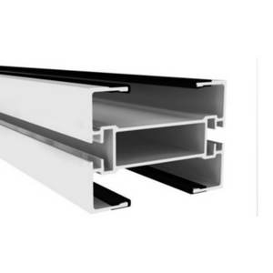 Slide rails on aluminium beam for chain conveyor system