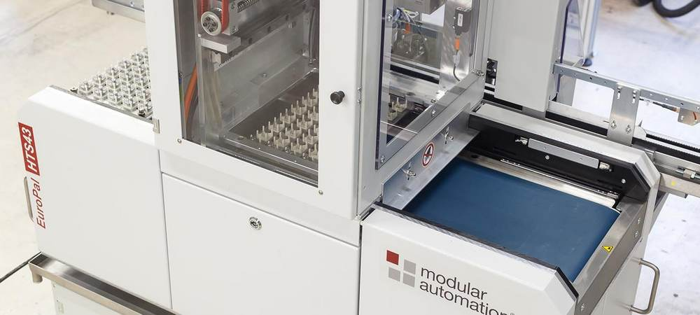 CNC Lathe Automation - Palletizing systems from modular automation