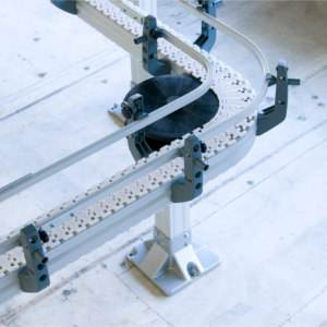 aluminium chain conveyor system from modular automation