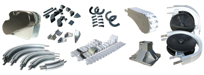 Components for standard chain conveyor systems