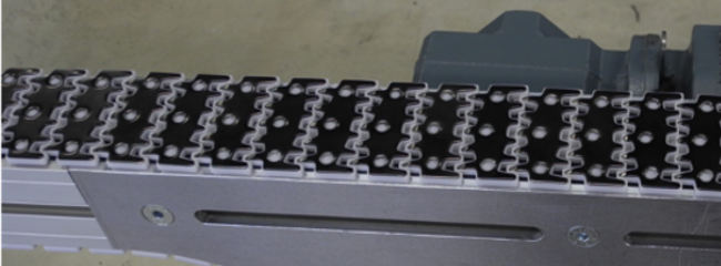 Plastic chain with steel coating