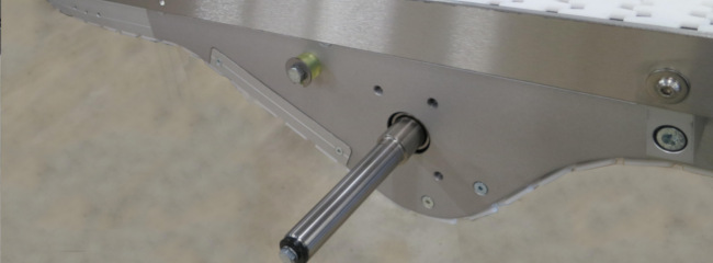 Mid drive unit for chain conveyor systems from modular automation
