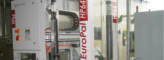 EuroPal HP palletizer - palletizing machine with integrated handling axis