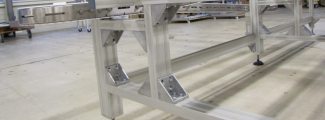 Profile system supports on chain conveyor system