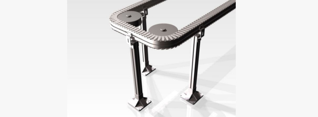 Support directly fastened to the beam for a chain conveyor system