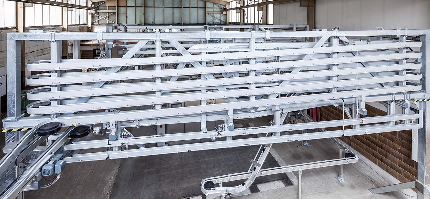 Link chain conveyor Buffer - chain conveyor system System System