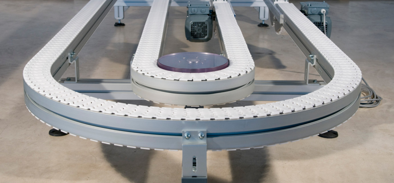 Aluminium chain conveyor systems