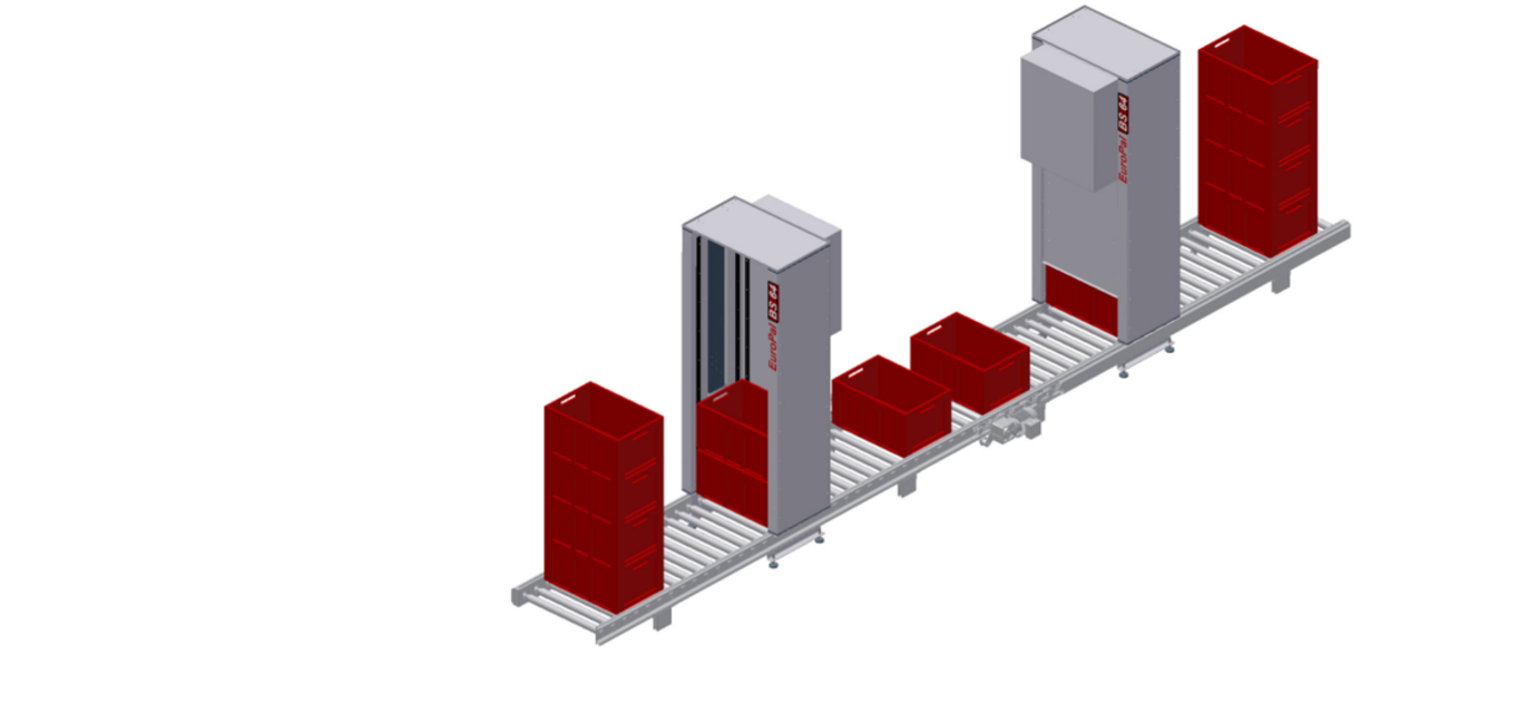Container stackers EuroPal BS64 - modular automation