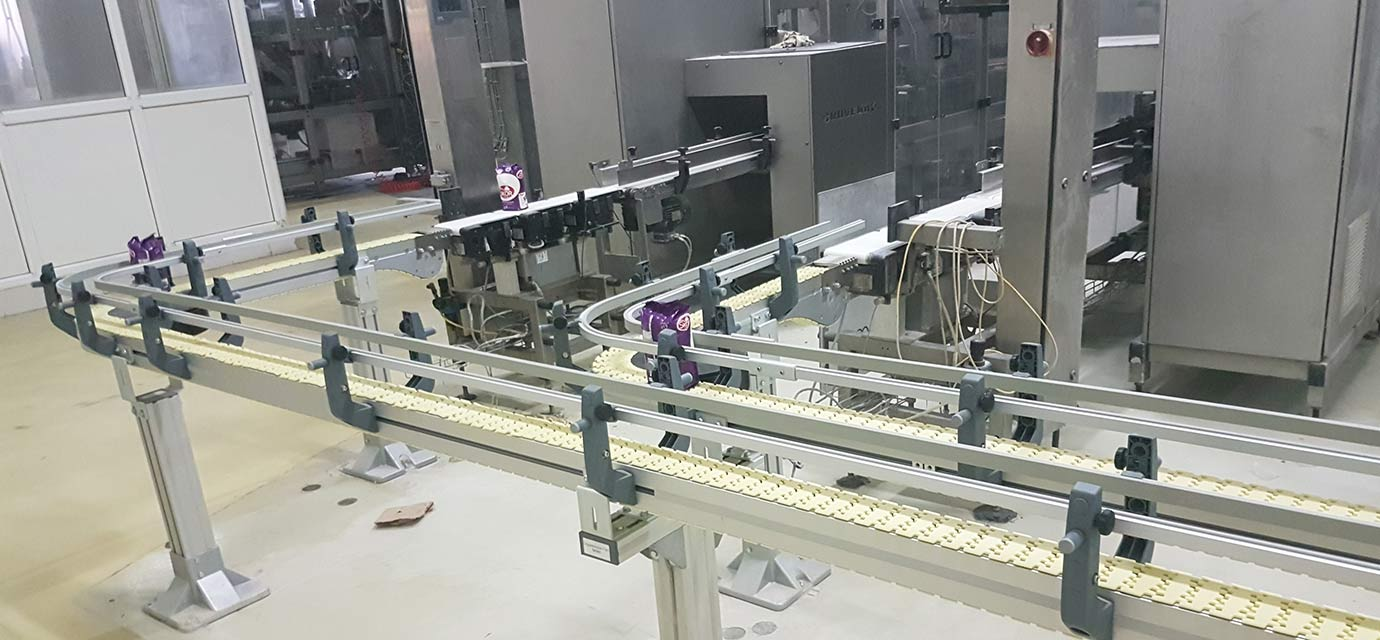 Conveyor system - production lines on packaging machines