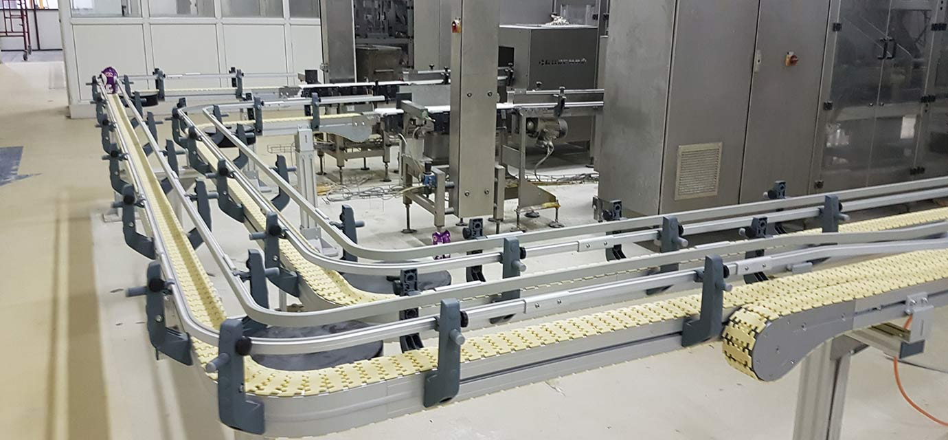 Link chain conveyor system