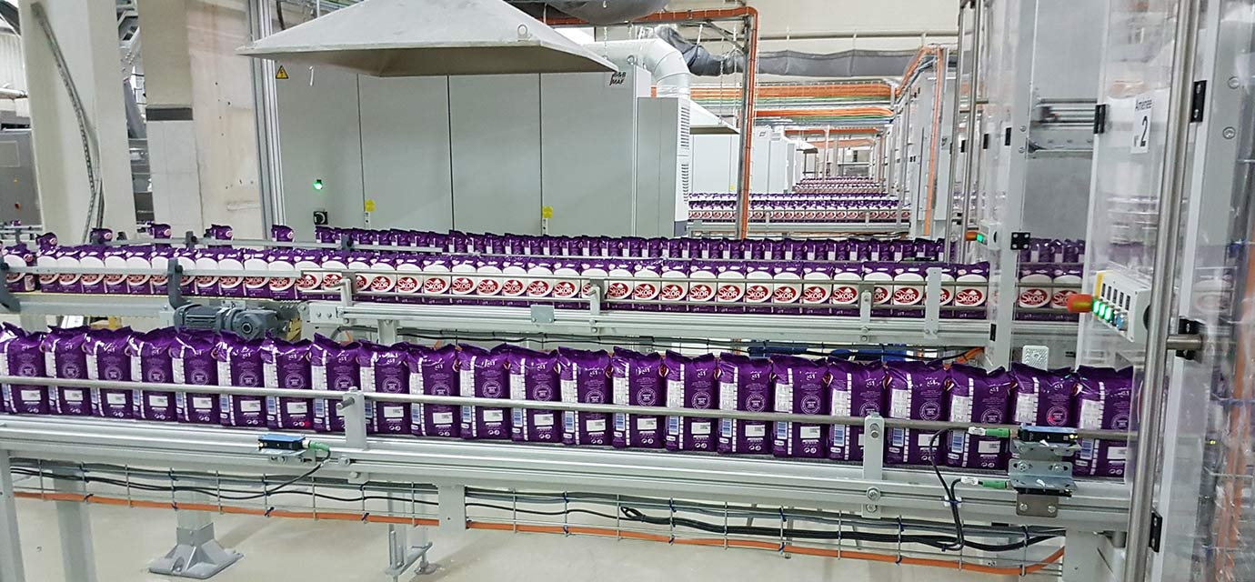 Food industry Production plant - conveyor systems Link chain conveyors