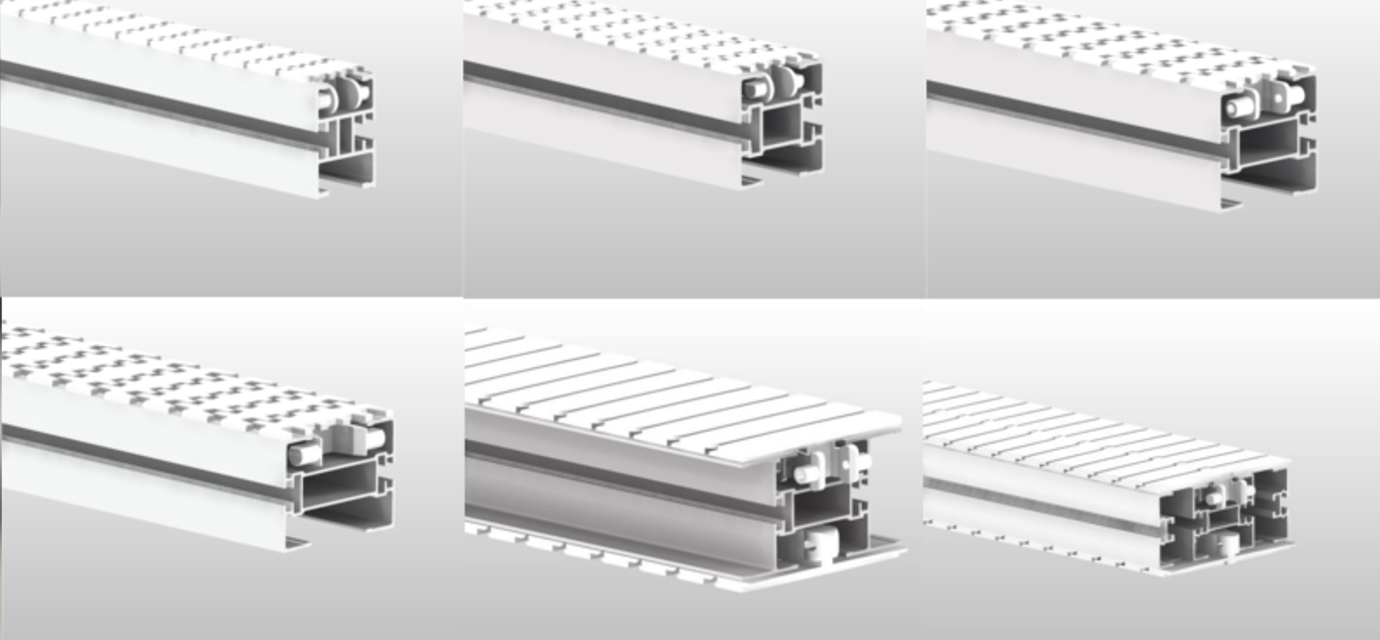 Beams for chain conveyor system from modular automation