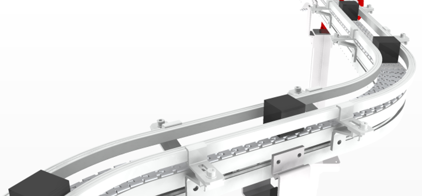 Beams - chain conveyor - modular automation