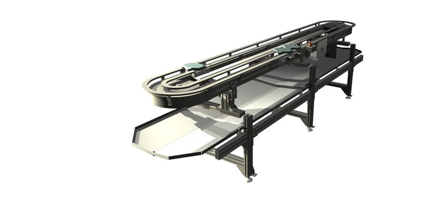 Palett conveyor with drip channels