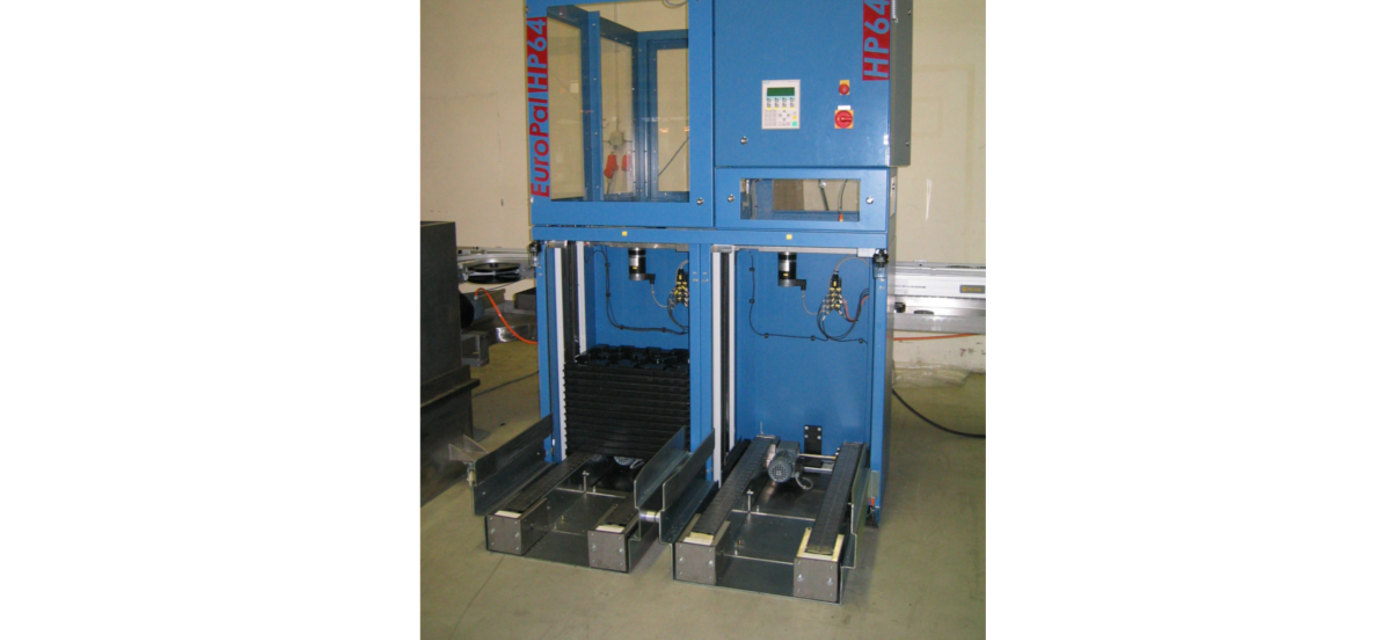 Feeder for palletizers